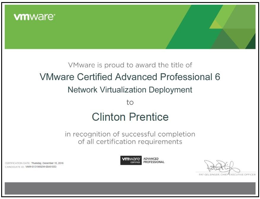 Vmware vcap6 nv exam experience virtualising middle earth malvernweather Choice Image